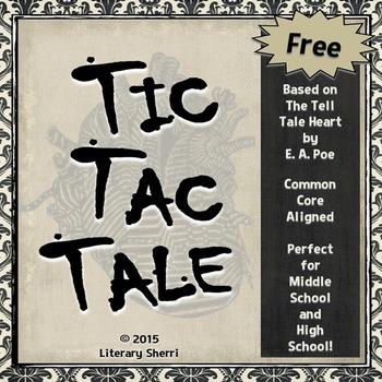 Tell Tale Heart by Edgar Allan Poe: Free Activities (Grade