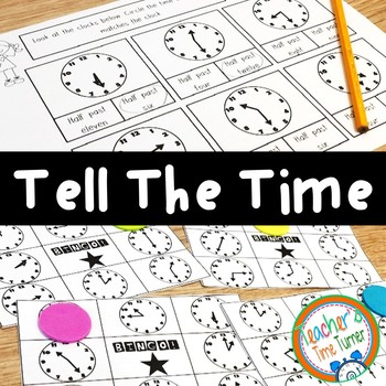 Tell the time printables and bingo game