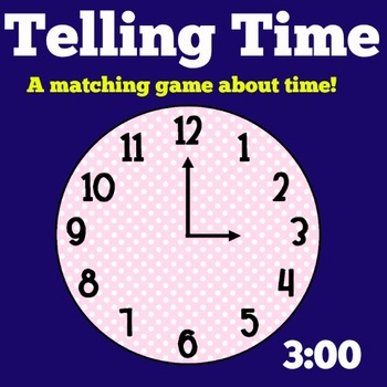 Telling Time Activity | Time Math Center | Time Activity |