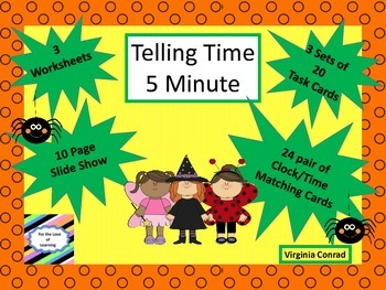 Telling Time--5 Minute Intervals--Halloween Theme