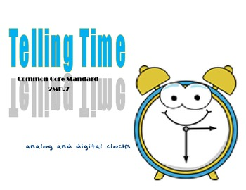 Telling Time-Analog and Digital Clocks