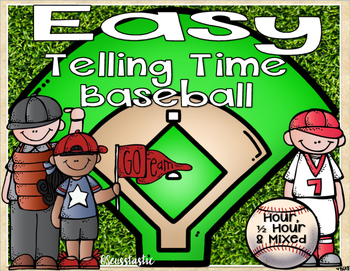 Telling Time Baseball (Hour & Half Hour)