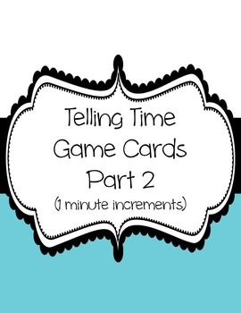 Telling Time Card Game Part 2