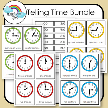 Telling Time Cards - Bundle
