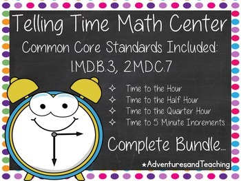 Telling Time Unit {Activities, Craftivities, Dominoes & More}