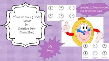 """Telling Time Center """"Time on Your Hands"""""""