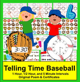 Telling Time Baseball {Play Catch & Tell Time at 3 Levels}