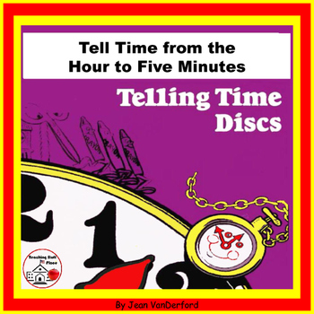 TELLING TIME DISCS | Clocks | Color & Practice | Time on W