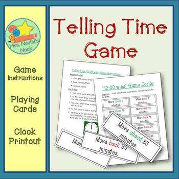 Telling Time Game - 5 minute intervals