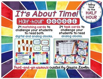 Telling Time Half-Hour Bundle