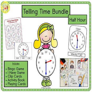 Telling Time Half Hour Bundle