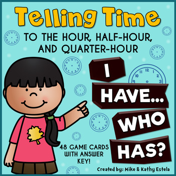 Telling Time to the Hour, Half-hour, and Quarter-hour {I H