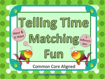 Telling Time Matching Fun (Common Core Aligned)