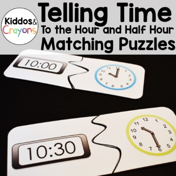Telling Time Math Center-Matching Puzzles