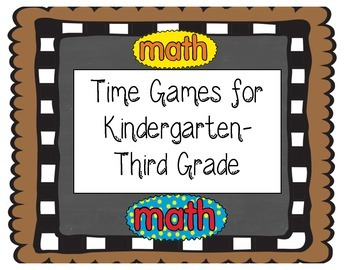 Telling Time Math Games: Hour, half hour, quarter hour, an