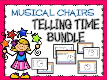 Telling Time Musical Chairs Game Bundle