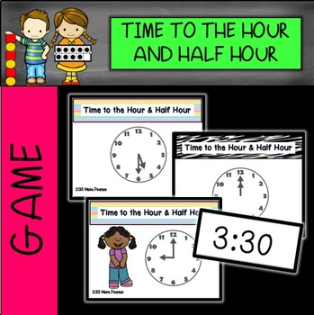 Telling Time Math Musical Chairs Game-Hour/Half Hour with
