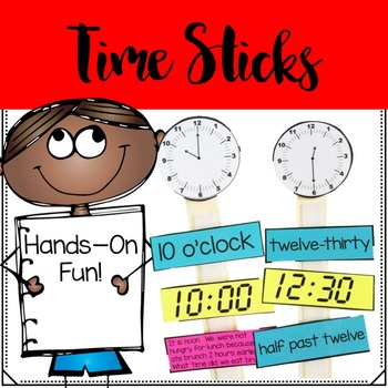 Telling Time Math Sticks
