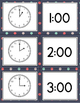 Telling Time Memory Game with BONUS Visual Directions