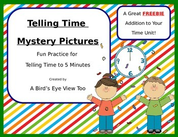 Telling Time Mystery Pictures FREEBIE!