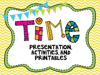 Telling Time Presentation, Printables, Center Activities-C