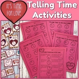 Telling Time Printables and Games - Valentines Theme