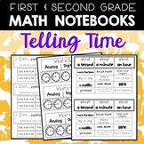 Math Journals: Time Printables for 1-2