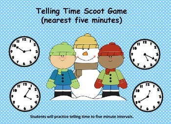 "Telling Time ""Scoot"" Game           (five minute intervals"