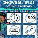 Telling Time Game: Snowball SPLAT!