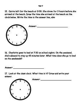 Telling Time Study Guide (test review) 2.md.7