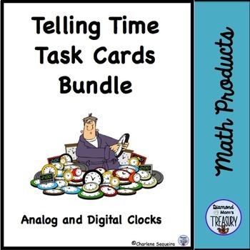 Telling Time Task Cards Bundle