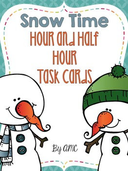 Telling Time Task Cards to the Hour and Half Hour