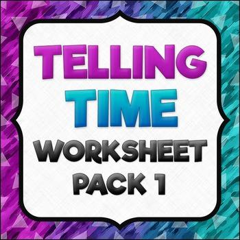 Telling Time Worksheet Pack 1