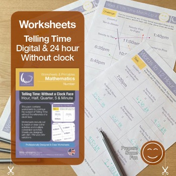 Telling Time   Worksheets/Printables   Telling the Time wi