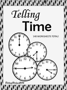 Telling Time-Write it & Cut & Paste! No Prep