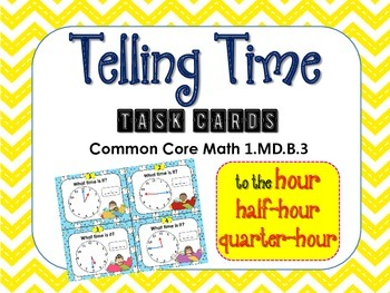 Telling Time by the Hour, Half-Hour, and Quarter Hour Task