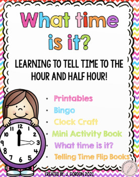 Telling Time: hour and half hour bundle