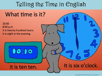 Telling Time in English with Pepper the Pooch