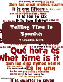Spanish Telling Time Thematic Unit