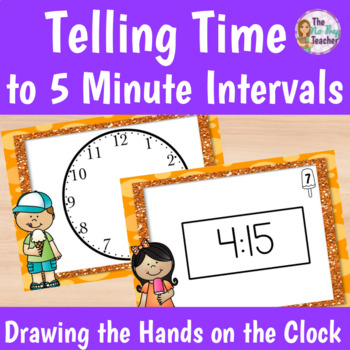 Telling Time to 5 minute intervals Drawing the Hands on a Clock