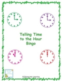 Telling Time to the Hour Bingo