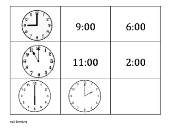 Telling Time to the Hour, Half Hour, Quarter Hour, and Fiv