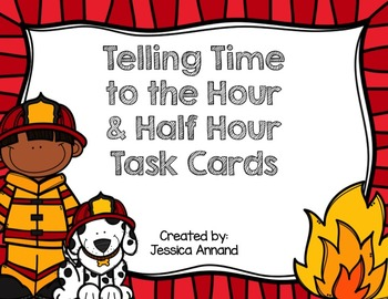 Telling Time to the Hour / Half Hour Task Cards / SCOOT an