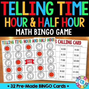 Telling Time to the Hour & Half Hour Activity: Telling Tim