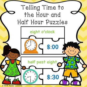 Telling Time to the Hour and Telling Time to the Half Hour