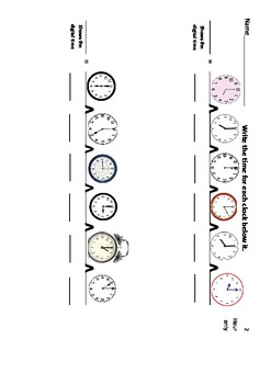 Telling Time to the Hour and Half Hour Using Thinking Maps