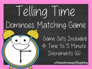 Telling Time to the Nearest 5 Minutes Dominoes Matching Ga