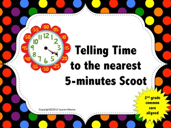 Telling Time to the Nearest 5 Minutes Scoot