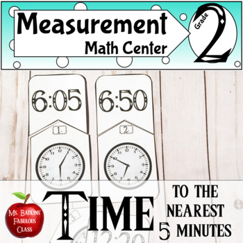 Telling Time to the Nearest Five Minutes Math Center Activity