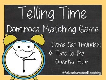 Telling Time to the Quarter Hour Dominoes Matching Game 2.MD.C.7